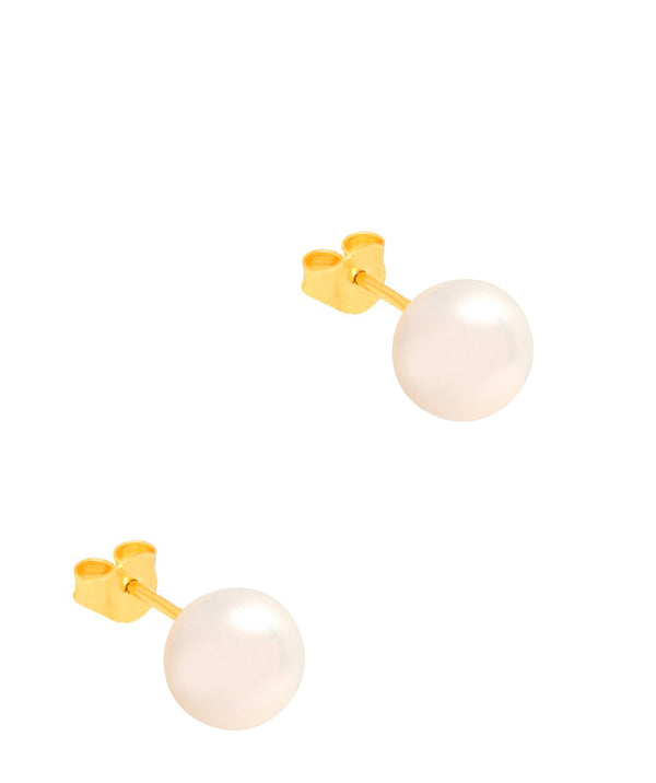 Gift Packaged 'Kinga' 18ct Yellow Gold Plated 925 Silver & Freshwater Pearl Stud Earrings