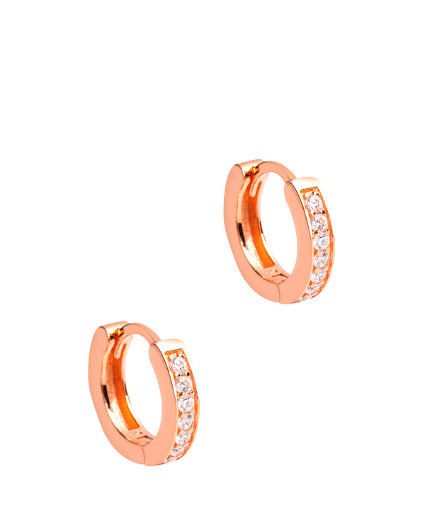 Gift Packaged 'Alison' 18ct Rose Gold Plated 925 Silver Hoop Earrings