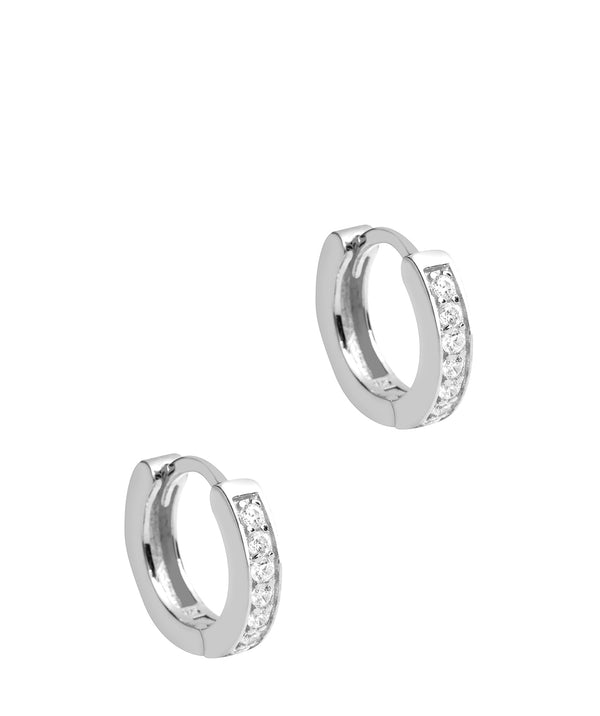 'Alison' Sterling Silver Hoop Earrings Pure Luxuries London