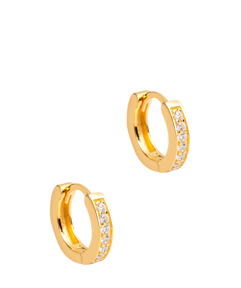 'Alison' Yellow Gold Plated Sterling Silver Hoop Earrings Pure Luxuries London