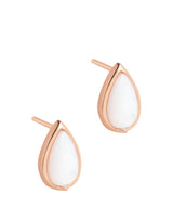 Gift Packaged 'Celine' 18ct Rose Gold Plated 925 Silver Teardrop Earrings