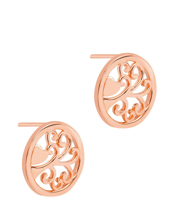 Gift Packaged 'Fosette' 18ct Rose Gold 925 Silver Branch Earrings