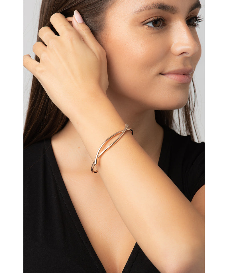 Gift Packaged 'Elle' 18ct Rose Gold Plated 925 Silver Minimalist Bangle
