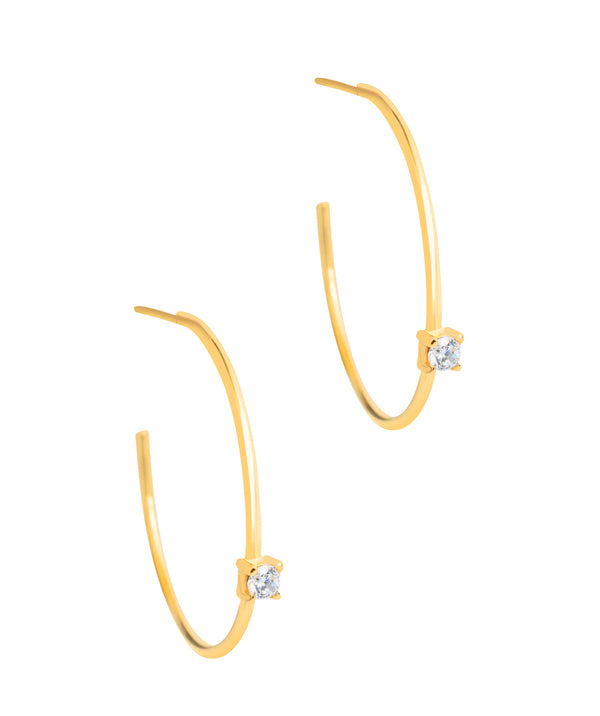 Gift Packaged 'Vilma' 18ct Yellow Gold Plated 925 Silver Open Hoop Earrings