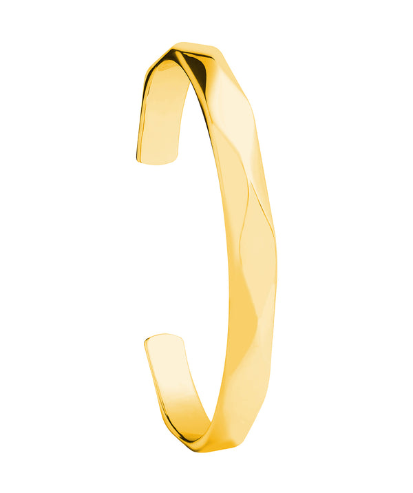 'Aurelle' Yellow Gold Plated Sterling Silver Bangle Pure Luxuries London