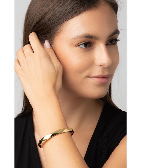 Gift Packaged 'Aurelle' 18ct Yellow Gold Plated 925 Silver Bangle
