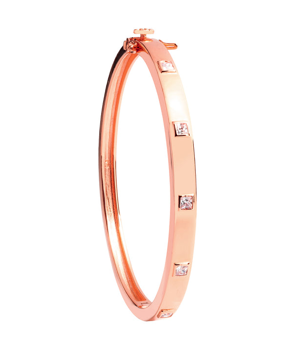 Gift Packaged 'Coralle' 18ct Rose Gold Plated 925 Silver and Cubic Zirconia Bracelet