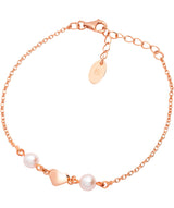 'Agenta' Rose Gold Plated Sterling Silver Heart Bracelet Pure Luxuries London