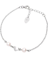 Gift Packaged 'Agenta' Rhodium Plated 925 Silver Heart Bracelet
