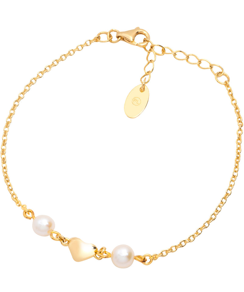 'Agenta' Yellow Gold Plated Sterling Silver Heart Bracelet Pure Luxuries London