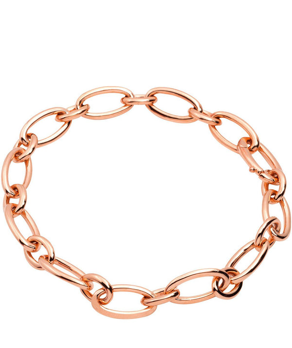 Gift Packaged 'Amalia' 18ct Rose Gold Plated 925 Silver Petite Link Bracelet