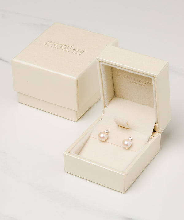 'Tomasa' Sterling Silver and Pearl Earrings Pure Luxuries London