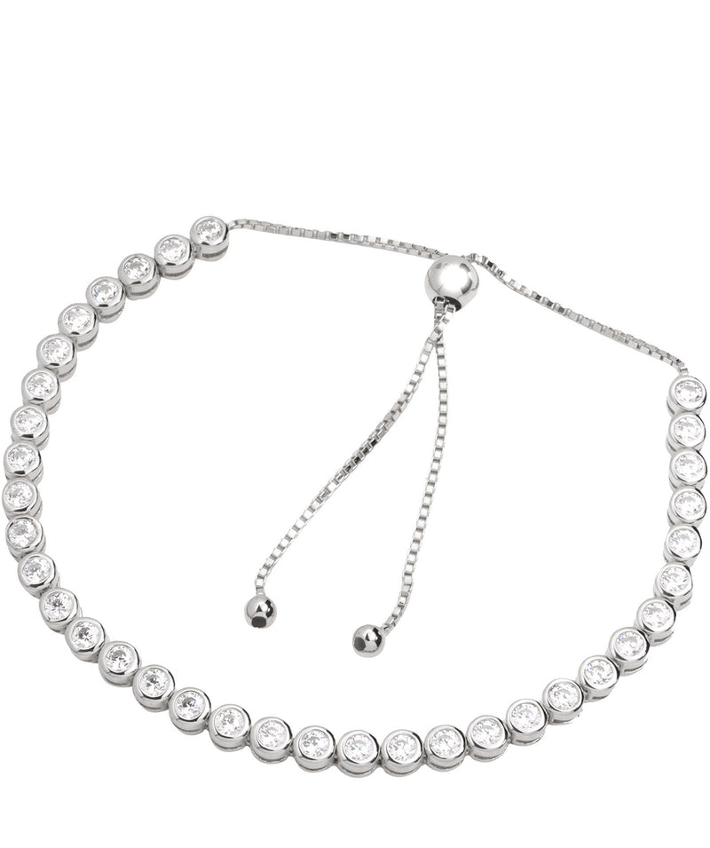 'Harriet' Sterling Silver and Cubic Zirconia Bracelet Pure Luxuries London