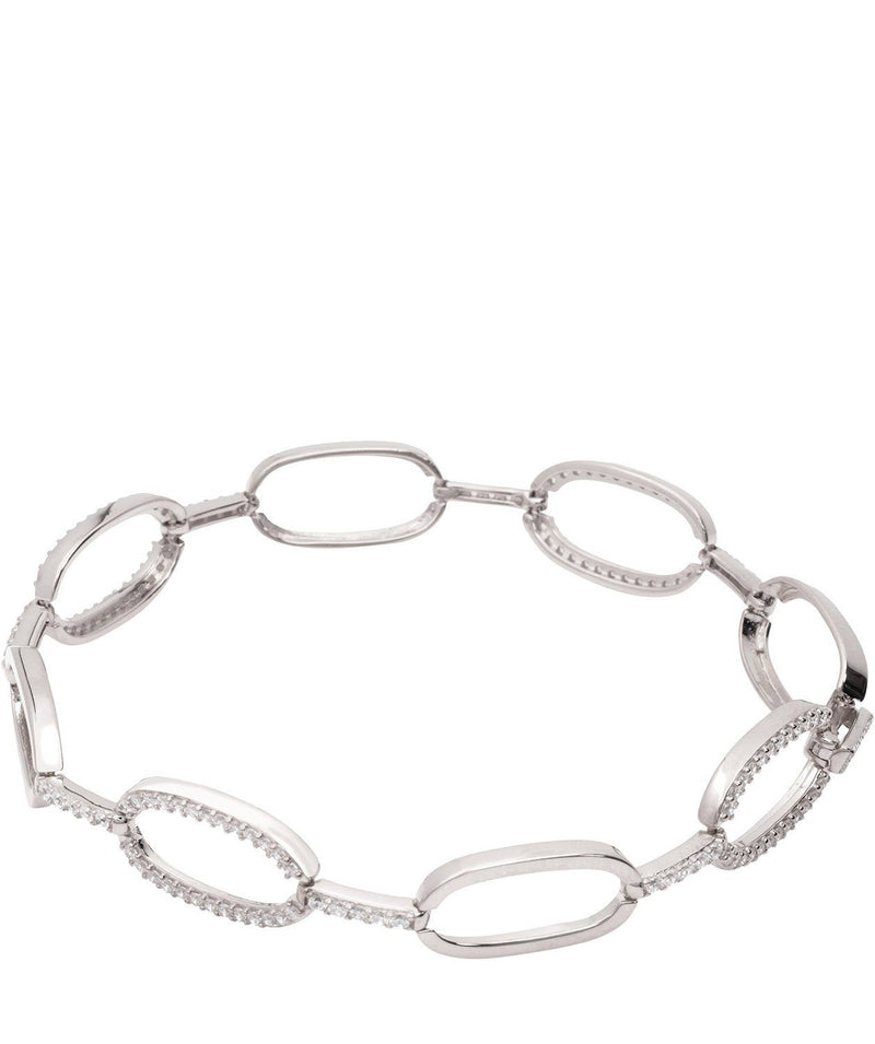 Gift Packaged 'Romilly' Rhodium Plated 925 Silver & Cubic Zirconia Bracelet Pure Luxuries London