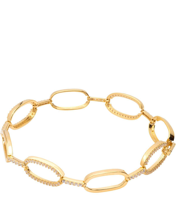 Gift Packaged 'Romilly' 18ct Yellow Gold Plated 925 Silver & Cubic Zirconia Bracelet Pure Luxuries London