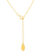 Gift Packaged 'Tessa' 18ct Yellow Gold Plated 925 Silver & Cubic Zirconia Hanging Teardrops Necklace Pure Luxuries London