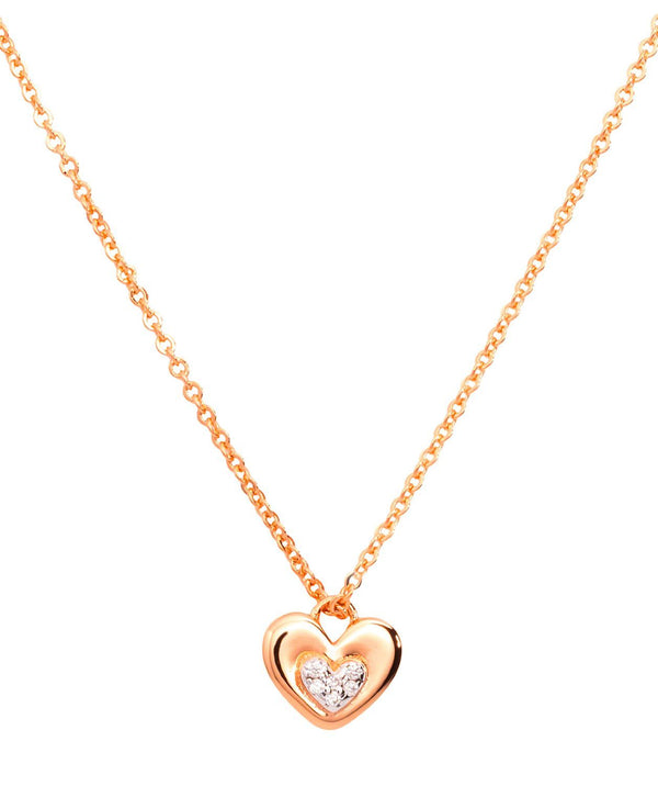 Gift Packaged 'Yelena' 18ct Rose Gold Plated 925 Silver & Cubic Zirconia Heart Necklace