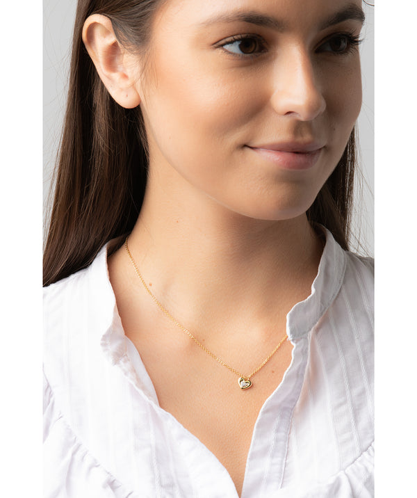 Gift Packaged 'Yelena' 18ct Yellow Gold Plated 925 Silver & Cubic Zirconia Heart Necklace