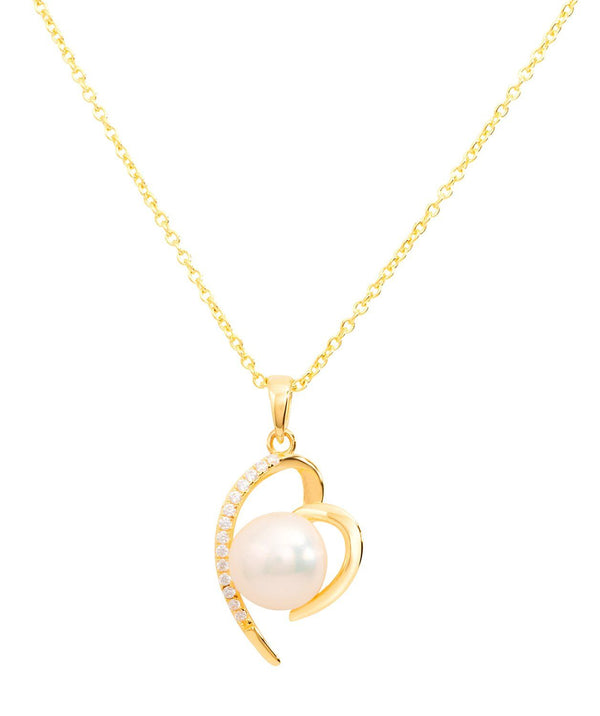 Gift Packaged 'Aurora' 18ct Gold Plated 925 Silver with Freshwater Pearl Pure Luxuries London