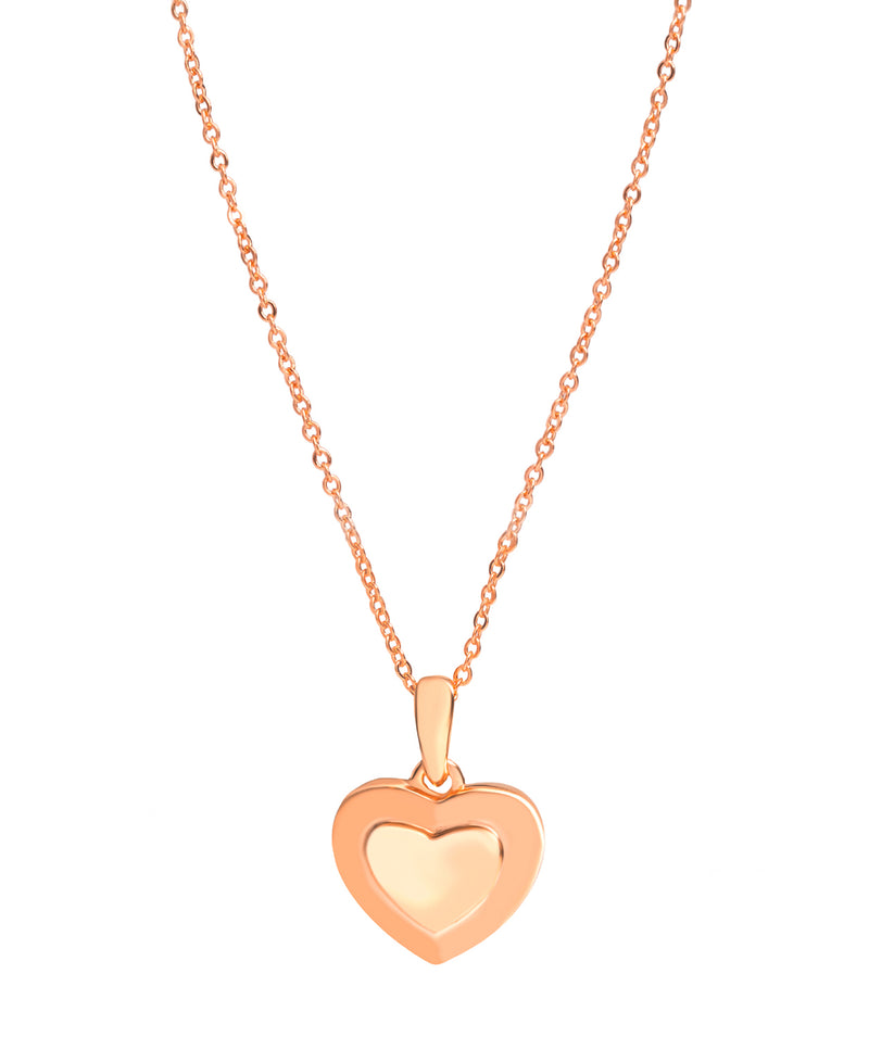 Gift Packaged 'Sumner' 18ct Rose Gold Plated 925 Silver Heart Pendant Necklace
