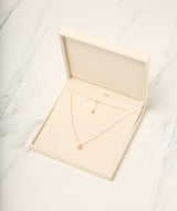 Gift Packaged 'Onasis' 18ct Rose Gold Plated 925 Silver & Cubic Zirconia Double Heart Necklace