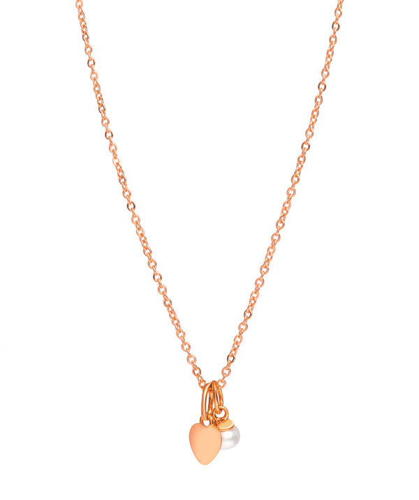 Gift Packaged 'Fonseca' 18ct Rose Gold Plated 925 Silver & Freshwater Pearl Necklace