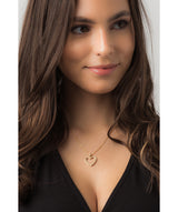 Gift Packaged 'Fontaine' 18ct Yellow Gold Plated 925 Silver & Cubic Zirconia Heart Pendant Necklace