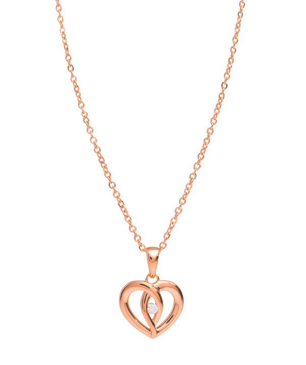 Gift Packaged 'Keller' 18ct Rose Gold Plated 925 Silver & Cubic Zirconia  Necklace