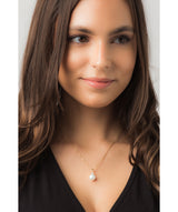 Gift Packaged 'Seville' 18ct Yellow Gold Plated 925 Silver, Pearl & Cubic Zirconia Necklace