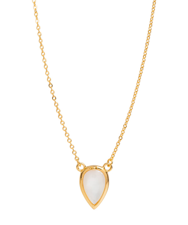 Gift Packaged 'Hesse' 18ct Yellow Gold Plated 925 Silver & Shell Pearl Necklace