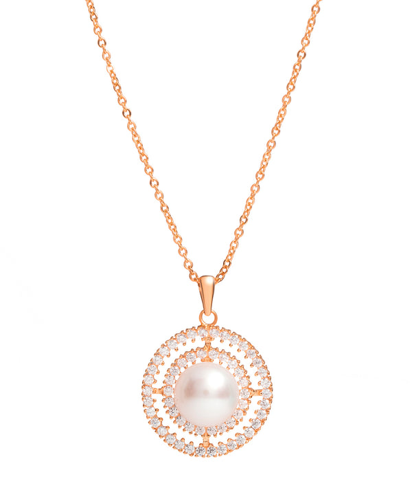 Gift Packaged 'Valverde' 18ct Rose Gold Plated 925 Silver Cubic Zirconia Necklace