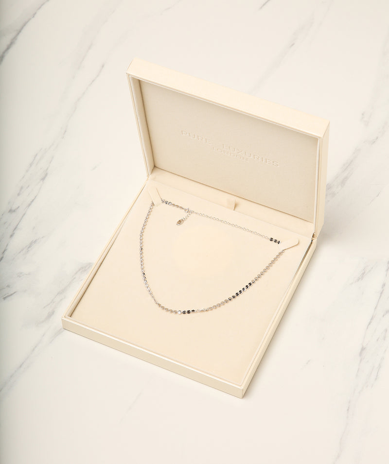 Gift Packaged 'Modesto' 925 Silver Link Necklace