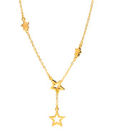 Gift Packaged 'Velata' 18ct Yellow Gold Plated 925 Silver Cascading Stars Necklace