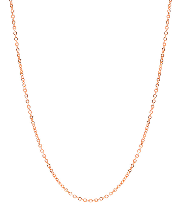 Gift Packaged 'Girona' 18ct Rose Gold Plated 925 Silver Fine Trace Chain Necklace