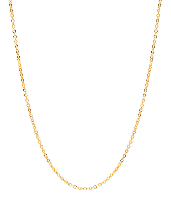 Gift Packaged 'Girona' 18ct Yellow Gold Plated 925 Silver Fine Trace Chain Necklace