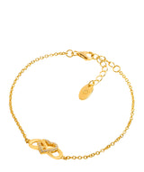 Gift Packaged 'Graff' 18ct Yellow Gold Plated 925 Silver Heart Knot Bracelet