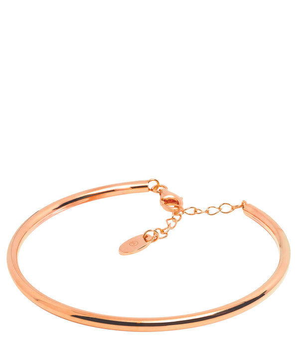 Gift Packaged 'Caspari' 18ct Rose Gold Plated 925 Silver Bangle
