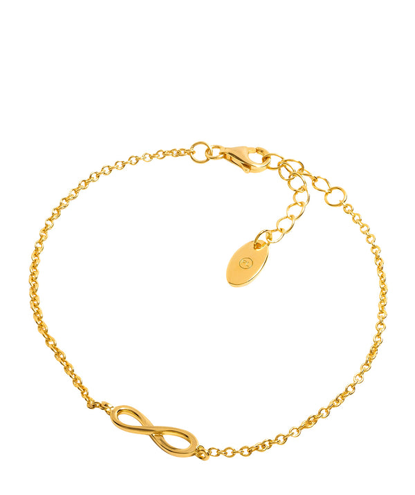 Gift Packaged 'Maderno' 18ct Yellow Gold Plated 925 Silver Infinity Bracelet