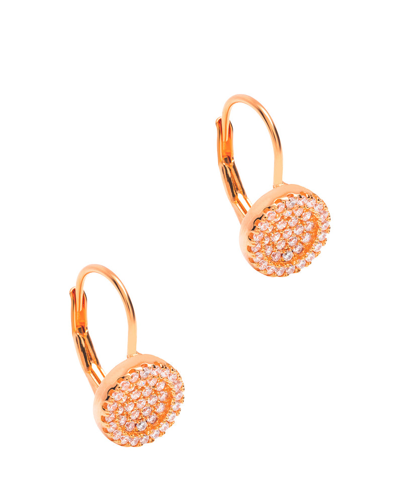 Gift Packaged 'Capella' 18ct Rose Gold Plated 925 Silver & Cubic Zirconia Drop Earrings