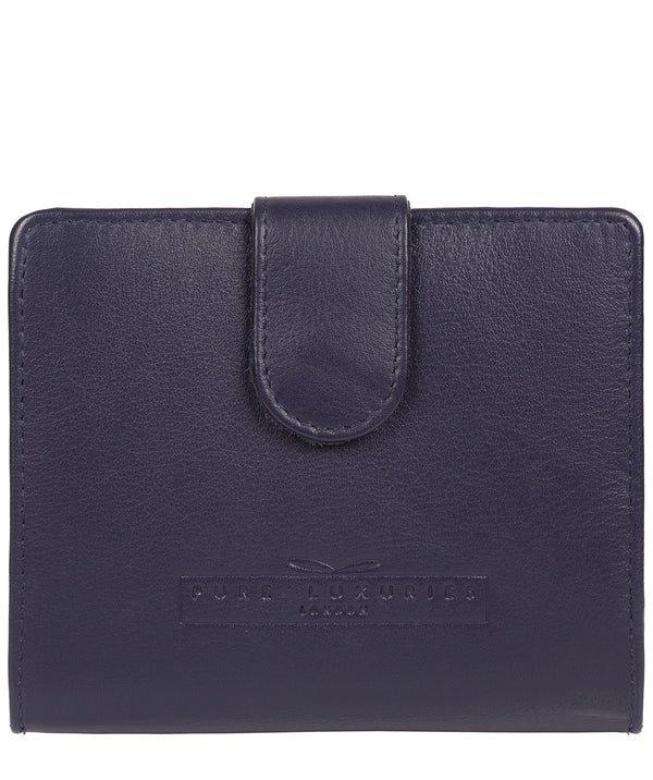 'Tori' Navy Handcrafted Leather RFID Purse image 1