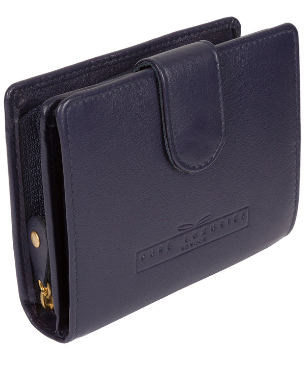 'Tori' Navy Handcrafted Leather RFID Purse image 3