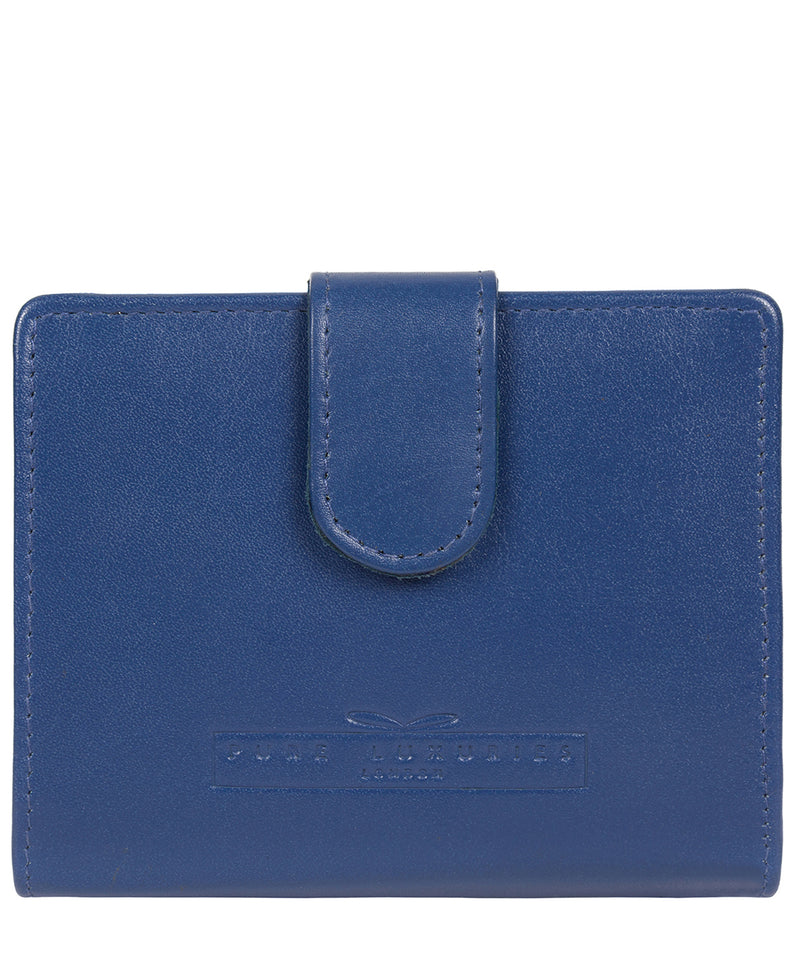 'Tori' Royal Blue Handcrafted Leather RFID Purse image 1