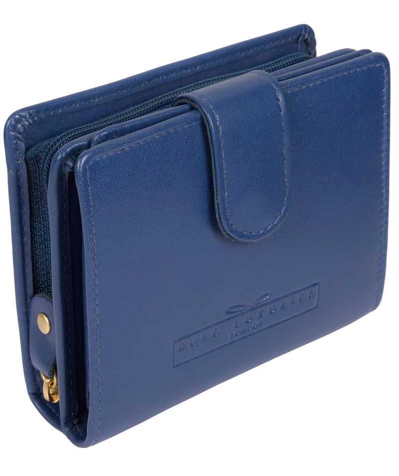 'Tori' Royal Blue Handcrafted Leather RFID Purse image 3