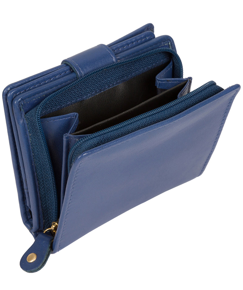 'Tori' Royal Blue Handcrafted Leather RFID Purse image 6
