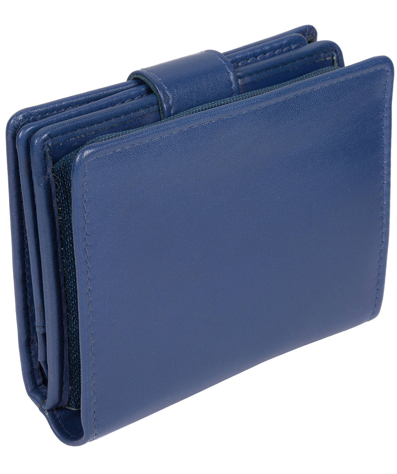 'Tori' Royal Blue Handcrafted Leather RFID Purse image 7
