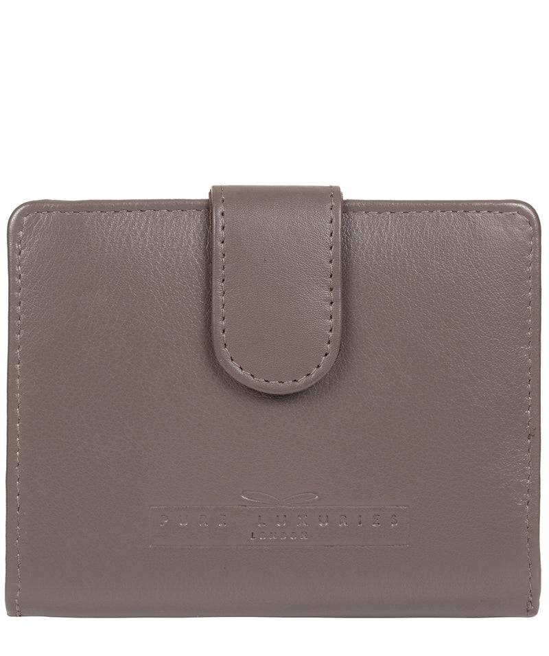 'Tori' Taupe Grey Leather Purse image 1