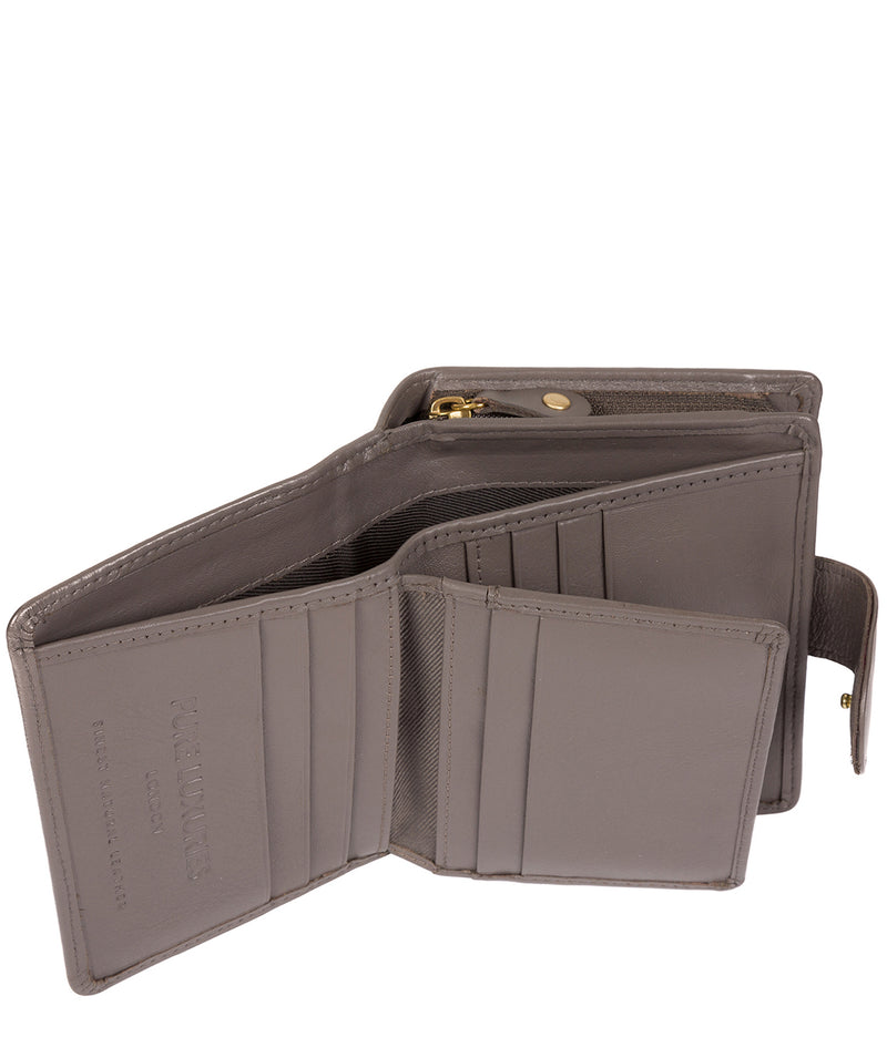 'Tori' Taupe Grey Leather Purse image 4