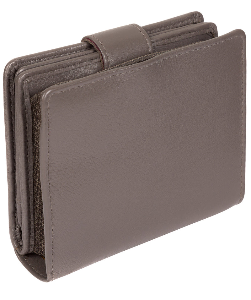 'Tori' Taupe Grey Leather Purse image 7