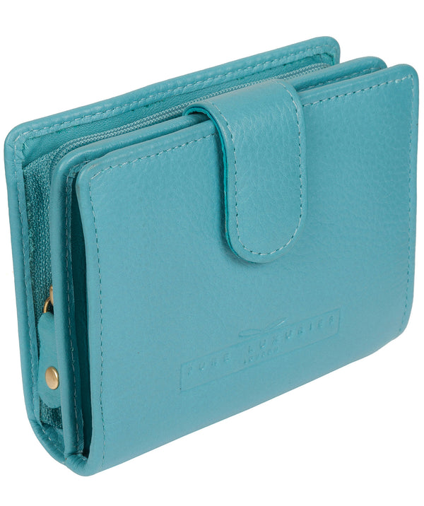 'Tori' Turquoise Leather Purse image 3