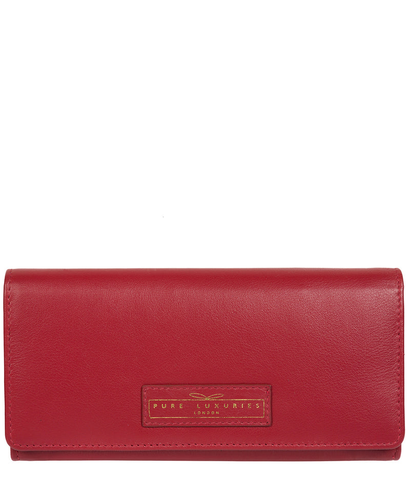 'Honor' Light Red Leather Purse image 1